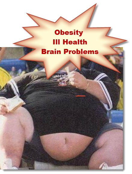 Obesity, Ill Health, Brain Problems